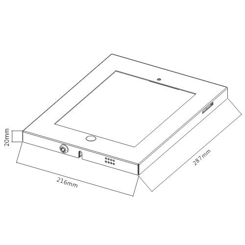 Anti-Theft Steel iPad Enclosure with Lock PAD12-01AL For iPad2/3/4/Air from china(chinese)