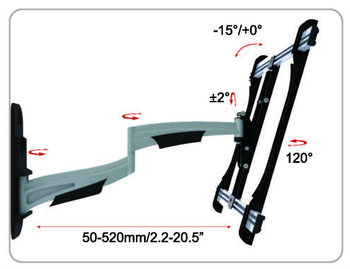 Swivel slim flat panel LCD TV mount VM-LT25M K-08
