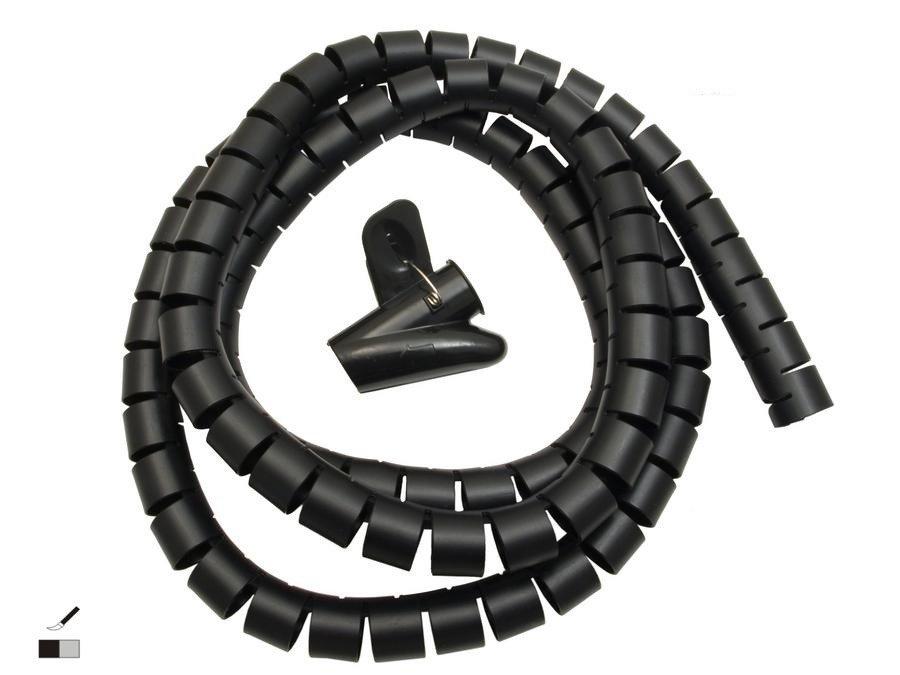 Organizér kabelů, 25mm x 2m černý
