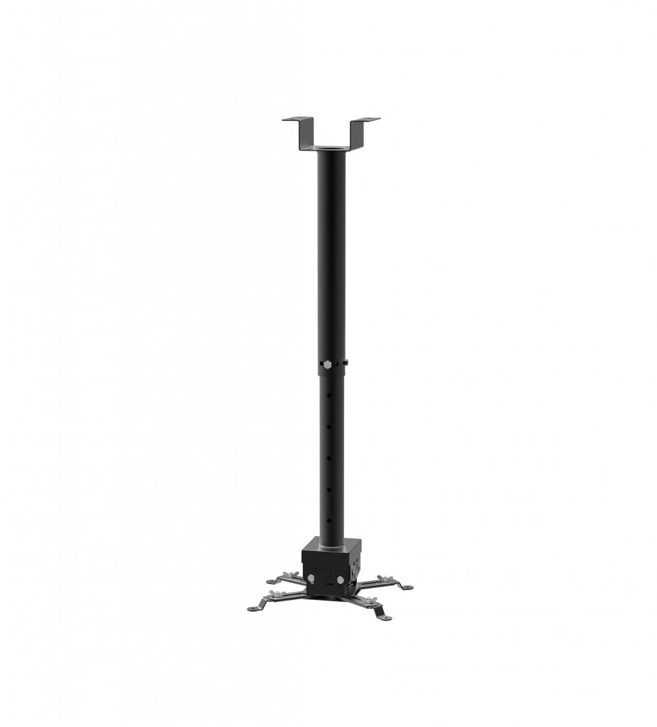 STRICT BRAND SB2 stropní držák projektoru s nastavitelnou délkou od stropu 650-1000mm v černé barvě