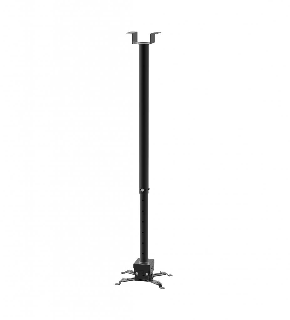 STRICT BRAND SB2M stropní držák na projektory s nastavitelnou délkou od stropu 860-1470mm v černé barvě