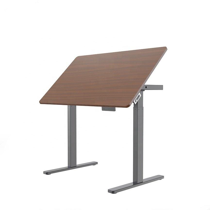 STRICT BRAND HED122F Elektricky výškově nastavitelný kancelářský stůl s nastavitelný úhel