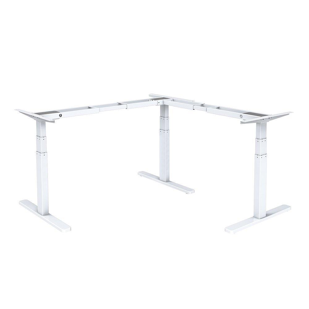 STRICT BRAND HED103-90 Rohové výškově elektricky nastavitelný stůl střibrná