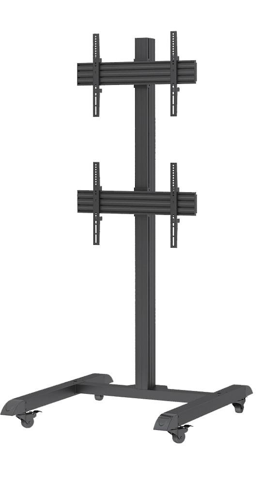 STRICT BRAND FS1B2 LCD stojan na 2 TV monitory