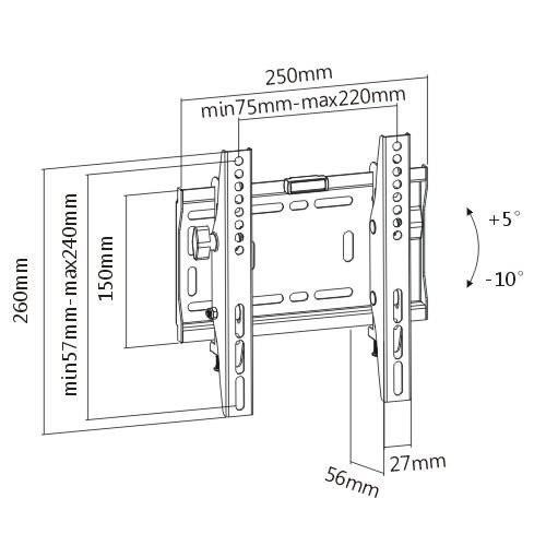 Sklopný držák Tv UCHO184 (1)